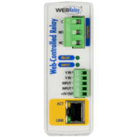X-WR-1R12-1I-I  WEB Relay™- Single Relay & Input Module - Input 4-26vdc - PS 9-28vdc