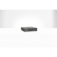 cnMatrix EX2010-P, Intelligent Ethernet PoE Switch, 8 1G and 2 SFP fiber ports - AUS/NZ pwr cord