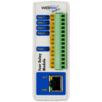 WEB Relay Quad™ - 4 x Relay Module - PS=POE/5vdc